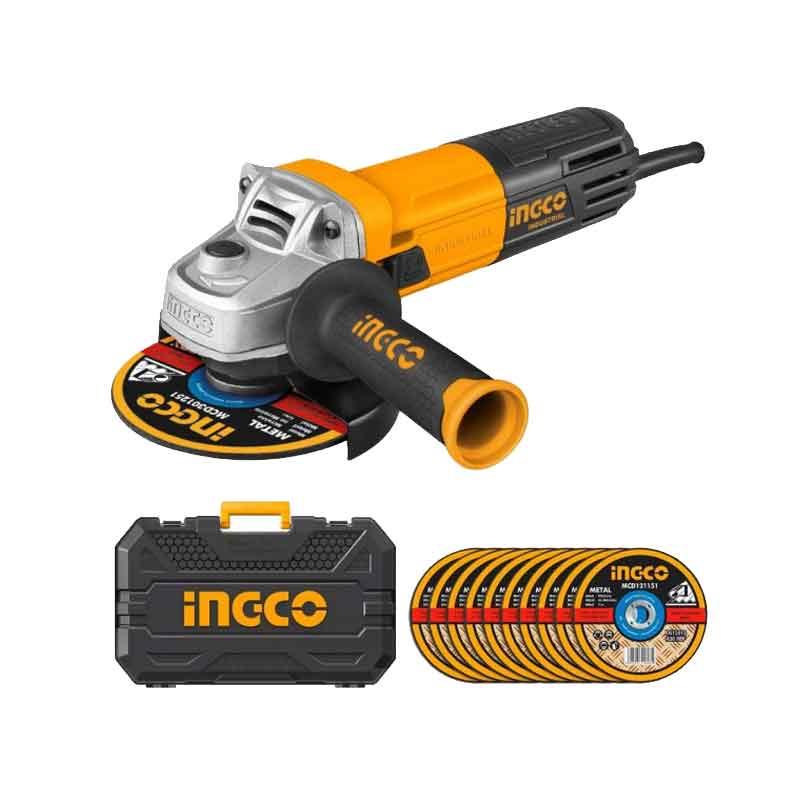 Meule à disque 950W INGCO 115mm avec valise – AG8503-1