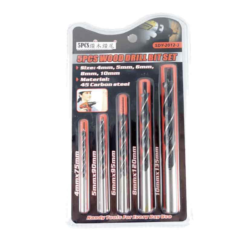 Jeu de 5 mèches à bois plates 4-10mm