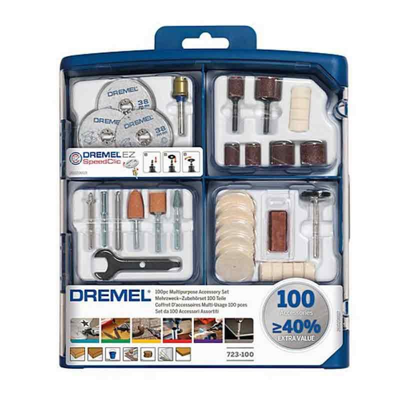 Coffret d'accessoires multifonction DREMEL 100pcs – 723