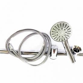 Ensemble barre de douche en acier chromé LY-5037/S