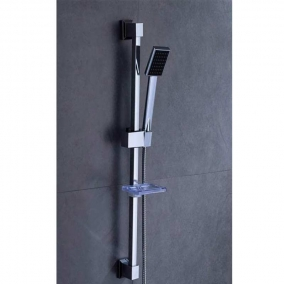 Ensemble barre de douche en acier chromé LY-5041/S