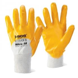 Gants en coton enduit de nitrile n°10 SGS7710