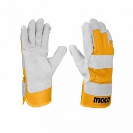 "Gants en cuir 10.5"" INGCO – HGVC01"